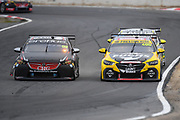 19th May 2018, Winton Motor Raceway, Victoria, Australia; Winton Supercars Supersprint Motor Racing; Anton De Pasquale passes Lee Holdsworth in his number 99 Erebus Motorsport V8 Holden Commodore ZB during race 13 of the 2018 Supercars Championship