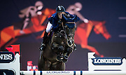 HONG KONG - FEBRUARY 21:  Maikel van der Vleuten of Netherlands rides Kisby during the Massimo Dutti Trophy as part of the 2016 Longines Masters of Hong Kong on February 21, 2016 in Hong Kong, Hong Kong.  (Photo by Aitor Alcalde Colomer/Getty Images)