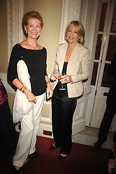 Left to right, PAULINE STONE and SANDRA HOWARD at a party to celebrate the publication of Sandra Howard's book 'Ursula's Stor' held at The British Academy, 10 Carlton House Terace, London on 4th September 2007.<br />