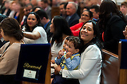 DENVER, CO - MAY 16: Family and friends of the newly ordained priests look on during their ordination into the Archdiocese of Denver at the Cathedral Basilica of the Immaculate Conception on May 16, 2015, in Denver, Colorado. (Photo by Daniel Petty/Denver Catholic Register)