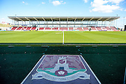 Sixfields Stadium East stand with 2000 brand new seats during the Sky Bet League 2 match between Northampton Town and Newport County at Sixfields Stadium, Northampton, England on 25 March 2016. Photo by Dennis Goodwin.