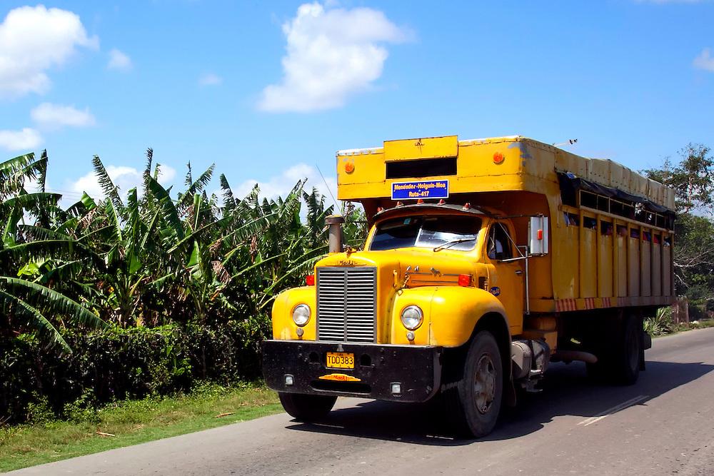 Truck in Jesus Menendez, Las Tunas, Cuba.