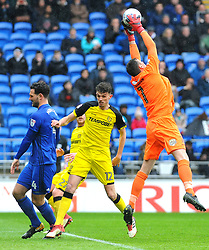 Stephen Bywater of Burton Albion makes a save - Mandatory by-line: Nizaam Jones/JMP- 30/03/2018 -  FOOTBALL -  Cardiff City Stadium- Cardiff, Wales -  Cardiff City v Burton Albion - Sky Bet Championship