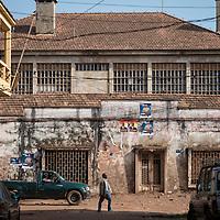 04/03/2014.  Bissau. Guinée Bissau. Vue du quartier Bissau velho, le plus ancien de la ville. ©Sylvain Cherkaoui pour JA