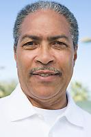 Man with moustache, portrait