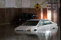 Cars are left stranded in flood waters on Washington Street in Worcester, Massachusetts on October 21, 2016.  Flash flooding in the area left many motorists stranded and closed down parts of route I-290.  Photo Copyright Matthew Healey<br /> <br /> <br /> (FREELANCE SUBMISSION)
