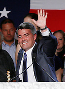 Republican Cory Gardner waves after winning the U.S. Senate race in Colorado in the U.S. midterm elections in Denver, Colorado, November 4, 2014.  REUTERS/Rick Wilking (UNITED STATES)