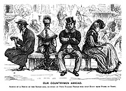 Our Countrymen Abroad. Sketch of a bench on the Boulevards, occupied by four English people who only know each other by sight.