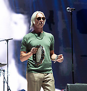 """Madness with Paul Weller <br /> perform live at the House of Common festival, Clapham Common, London, Great Britain<br /> 26th August 2019<br /> <br /> Madness<br /> Graham """"Suggs"""" McPherson<br /> Chris Foreman<br /> Mike Barson<br /> Lee Thompson<br /> Dan Woodgate<br /> Mark Bedford<br /> <br /> <br /> Photograph by Elliott Franks"""