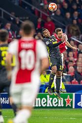 10-04-2019 NED: Champions League AFC Ajax - Juventus,  Amsterdam<br /> Round of 8, 1st leg / Ajax plays the first match 1-1 against Juventus during the UEFA Champions League first leg quarter-final football match / Alex Sandro #12 of Juventus, Joel Veltman #3 of Ajax
