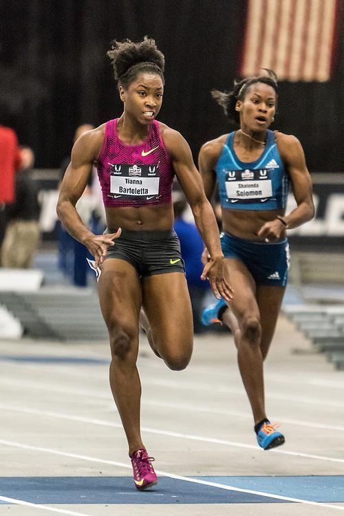 USATF Indoor Track & Field Championships: womens 60, Tianna Bartoletta, Nike