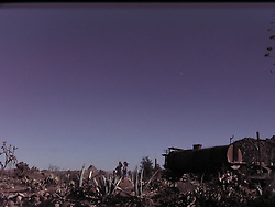 pioneertown, joshua tree, with an odd little camera with light leaks