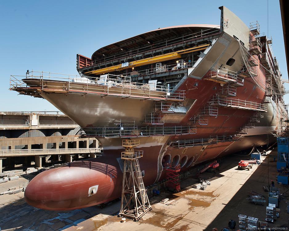 CHANTIERS NAVALS DE SAINT-NAZAIRE / Le futur MSC Divina (le nouveau paquebot de MSC Cruises)