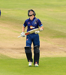 Gloucestershire's Michael Klinger smiles after forgetting he  has a runner - Mandatory by-line: Robbie Stephenson/JMP - 07966386802 - 04/08/2015 - SPORT - CRICKET - Bristol,England - County Ground - Gloucestershire v Durham - Royal London One-Day Cup