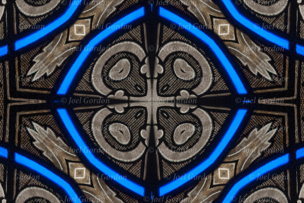 Details of  digital church stained glass window