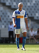 CAPE TOWN, South Africa - Saturday 26 January 2013, Ibrahim Samardzic of Grasshopper Club Zurich during the soccer/football match Grasshopper Club Zurich (Switzerland) and Ajax Cape Town at the Cape Town stadium..Photo by Roger Sedres/ImageSA