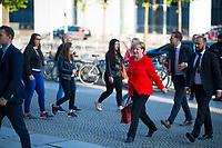 DEU, Deutschland, Germany, Berlin, 05.09.2017: Bundeskanzlerin Dr. Angela Merkel (CDU) bei der Ankunft am Deutschen Bundestag.