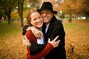 Tamu and Paul family in beautiful Land Park, Sacramento, California on November 22, 2008.