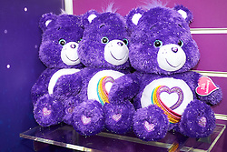 © Licensed to London News Pictures. 24/01/2017. LONDON, UK.  Toy Fair 2017 trade exhibition at Olympia.   In this picture: Care Bears which were launched 35 years ago.  Photo credit: Cliff Hide/LNP
