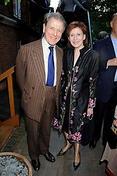EDWARD FOX and MARJORIE WALLACE at a party to celebrate the publication on 'Unsuitable' by Suzy Parsons held at St.Stephen's Club, 34 Queen Anne's Gate, London SW1 on 19th June 2008<br /><br />NON EXCLUSIVE - WORLD RIGHTS