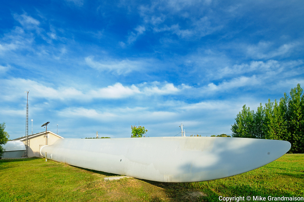 WInd turbine part at Saint Léon Interpretive Center, St. Leon, Manitoba, Canada