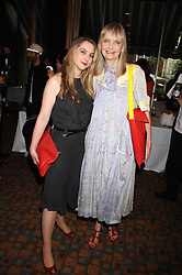 Left to right, DAISY DE VILLENEUVE and her mother JAN DE VILLENEUVE at a private view of work by Sacha Newley entitled 'Blessed Curse' in association with the Catto Gallery held at the Arts Club, Dover Street, London W1 on 2nd July 2008.<br /><br />NON EXCLUSIVE - WORLD RIGHTS