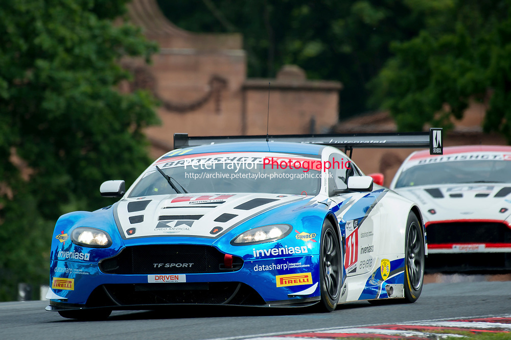 Mark Farmer (GBR) / Jon Barnes (GBR)  #11 TF Sport  Aston Martin V12 Vantage GT3  Aston Martin 6.0L V12 British GT Championship at Oulton Park, Little Budworth, Cheshire, United Kingdom. May 28 2016. World Copyright Peter Taylor/PSP.