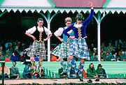 The traditional sword dance at the Braemar Games highland gathering  in Scotland.