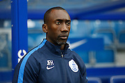 Queens Park Rangers manager Jimmy Floyd Hasselbaink before the Sky Bet Championship match between Queens Park Rangers and Wolverhampton Wanderers at the Loftus Road Stadium, London, England on 23 January 2016. Photo by Andy Walter.
