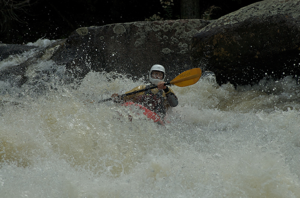 Whitewater Kayaking on the Beaver River, Taylorville Section, 09/07/2009.
