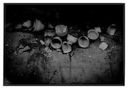 Broken terra cotta chai cups, Bihar.