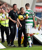 01/07/15 PRE-SEASON FRIENDLY MATCH<br /> CELTIC V DEN BOSCH<br /> ST MIRREN PARK - PAISLEY<br /> Celtic manager Ronny Deila (left) and captain Mikael Lustig.