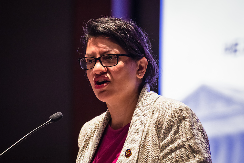 Rashida Tlaib, Representative from Detroit, Michigan speaking at the Congressional Convening on Environmental Justice in Washington, D.C., on June 26.