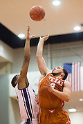 FORT WORTH, TX - JANUARY 19: Javan Felix #3 of the Texas Longhorns drives to the basket against the TCU Horned Frogs on January 19, 2015 at Wilkerson-Greines AC in Fort Worth, Texas.  (Photo by Cooper Neill/Getty Images) *** Local Caption *** Javan Felix