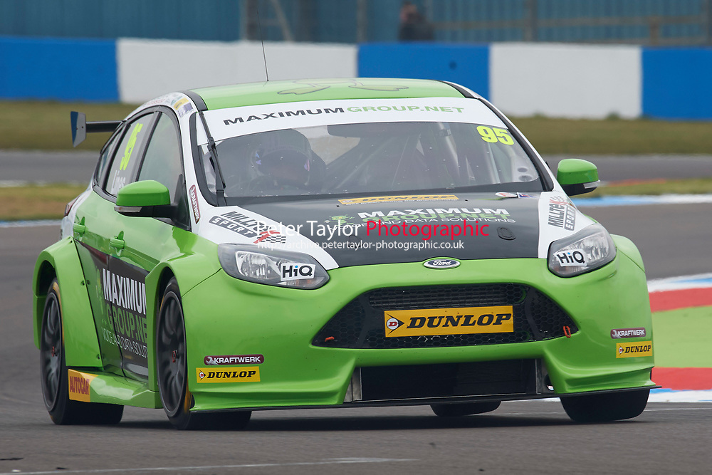 #95 Stewart Lines GBR Maximum Motorsport Ford Focus during Media Day Test Session as part of the BTCC Media Day at Donington Park, Melbourne, Leicestershire, United Kingdom. March 22 2016. World Copyright Peter Taylor/PSP. Copy of publication required for printed pictures.  Every used picture is fee-liable.