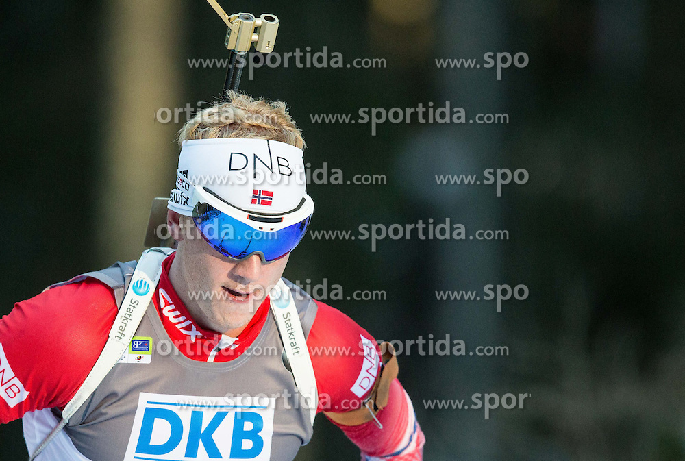 19.12.2014, Rudno polje, Pokljuka, SLO, IBU Weltcup Biathlon, Pokljuka, Sprint, Herren, im Bild BOE Johannes Thingnes (NOR) competes // during the Mens Sprint of E. ON IBU Biathlon World Cup at the Rudno polje in Pokljuka, Slovenia on 2014/12/19. EXPA Pictures &copy; 2014, PhotoCredit: EXPA/ Sportida/ Vid Ponikvar<br /> <br /> *****ATTENTION - OUT of SLO, FRA*****