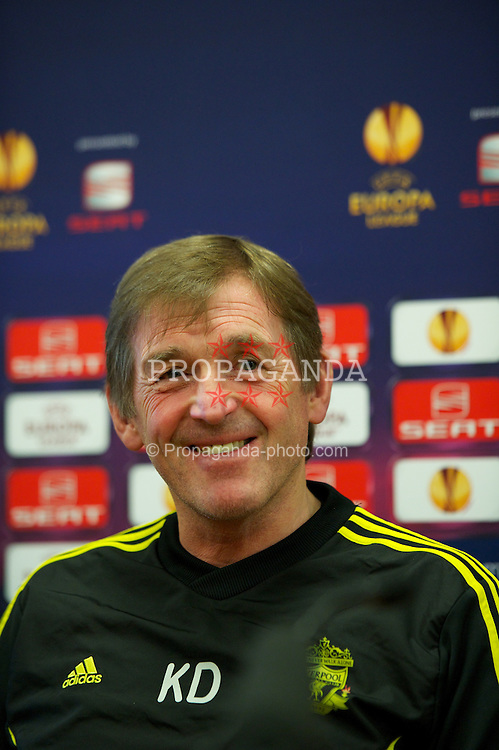 LIVERPOOL, ENGLAND, Wednesday, February 23, 2011: Liverpool's manager Kenny Dalglish during a press conference at the club's Melwood Training Ground ahead of the UEFA Europa League Round of 32 2nd leg match against AC Sparta Prague. (Photo by David Rawcliffe/Propaganda)
