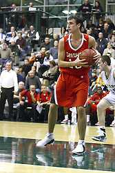 29 January 2011: Mitch Thompson during an NCAA basketball game between the Carthage Reds and the Illinois Wesleyan Titans at Shirk Center in Bloomington Illinois.