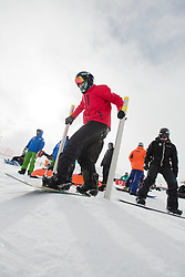 TUDHOPE Ben, banked slalom training, 2015 IPC Snowboarding World Championships, La Molina, Spain