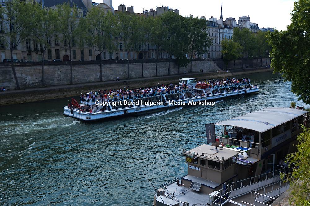 River Seine and Bateaux Mouches tour boat