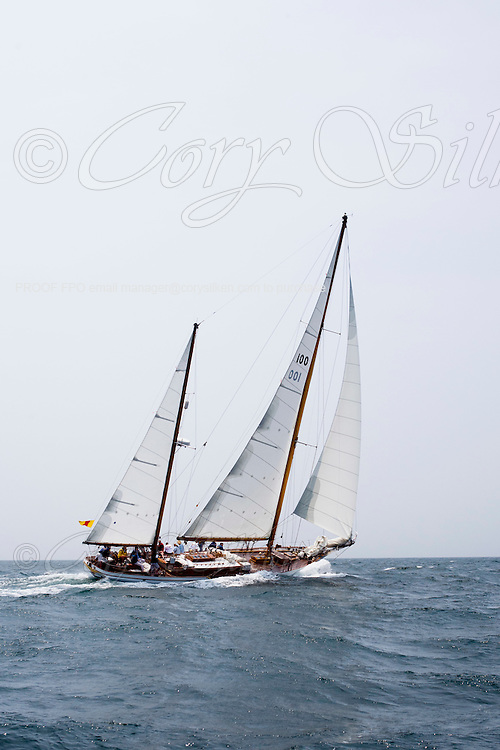 Ticonderoga racing in the NYYC regatta.