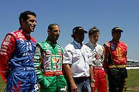 Dario Franchitti, Tony Kanaan, Michael Andretti, Dan Wheldon and Bryan Herta at St. Petersburg, Honda Grand Prix of St. Petersburg, April 3, 2005
