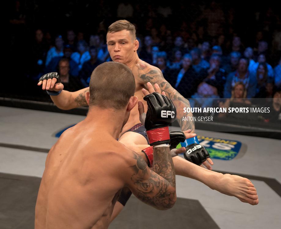 DURBAN, SOUTH AFRICA - JUNE 10: Martin van Staden from South Africa kicks during the EFC 60 Fight Night at Sibaya Casino on June 10, 2017 in Durban, South Africa. (Photo by Anton Geyser/EFC Worldwide/Gallo Images)