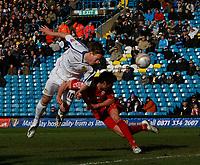 Photo: Steve Bond/Richard Lane Photography. Leeds United v Swindon Town. Coca Cola League One. 14/03/2009. Luciano Beccio gets a header in on goal