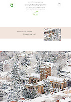 Great Malvern Priory in Snow, Malvern, Worcestershire A5 Greeting Card with Peel and Seal White Envelope