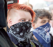 UAF Counter demonstration<br />  <br /> English Defence League <br /> protest at Charing Cross with a counter Unite Against Fascism protest on Victoria Embankment <br /> 24th June 2017 <br /> <br /> General View and Metropolitan Police containing the march. <br /> <br /> Photograph by Elliott Franks <br /> Image licensed to Elliott Franks Photography Services