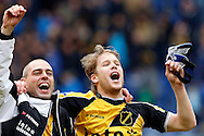 Onderwerp/Subject: NAC Breda - Eredivisie<br /> Reklame:  <br /> Club/Team/Country: <br /> Seizoen/Season: 2012/2013<br /> FOTO/PHOTO: Anthony LURLING ( Anthonius Petrus LURLING ) (L) of NAC Breda and Tim GILISSEN (R) of NAC Breda celebrating victory ( 4 - 0 ). (Photo by PICS UNITED)<br /> <br /> Trefwoorden/Keywords: <br /> #02 $94 &plusmn;1355238527106<br /> Photo- &amp; Copyrights &copy; PICS UNITED <br /> P.O. Box 7164 - 5605 BE  EINDHOVEN (THE NETHERLANDS) <br /> Phone +31 (0)40 296 28 00 <br /> Fax +31 (0) 40 248 47 43 <br /> http://www.pics-united.com <br /> e-mail : sales@pics-united.com (If you would like to raise any issues regarding any aspects of products / service of PICS UNITED) or <br /> e-mail : sales@pics-united.com   <br /> <br /> ATTENTIE: <br /> Publicatie ook bij aanbieding door derden is slechts toegestaan na verkregen toestemming van Pics United. <br /> VOLLEDIGE NAAMSVERMELDING IS VERPLICHT! (&copy; PICS UNITED/Naam Fotograaf, zie veld 4 van de bestandsinfo 'credits') <br /> ATTENTION:  <br /> &copy; Pics United. Reproduction/publication of this photo by any parties is only permitted after authorisation is sought and obtained from  PICS UNITED- THE NETHERLANDS