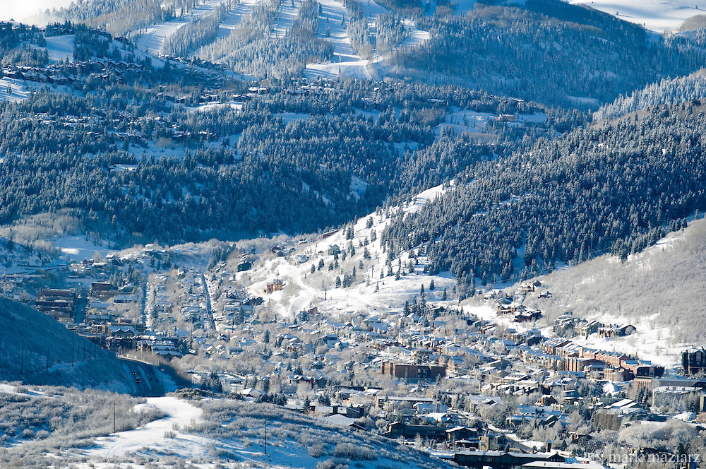 morning overview ofPark City after spring storm