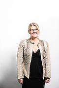 Studio portrait of Liz Davidson for Financial Advisor magazine in El Segundo, Calif.