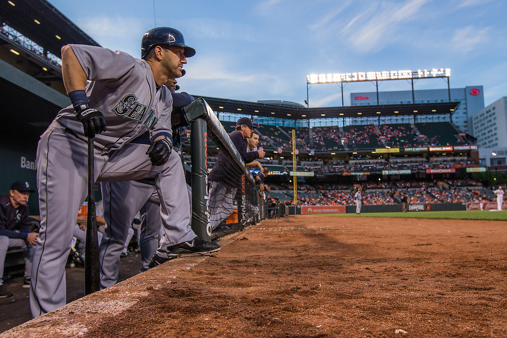 BALTIMORE, MD - MAY 20:  Willie Bloomquist #8 of the Seattle Mariners looks on during the game against the Baltimore Orioles at Oriole Park at Camden Yards on May 20, 2015 in Baltimore, Maryland. (Photo by Rob Tringali) *** Local Caption *** Willie Bloomquist